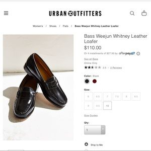 Perfect black leather penny loafers Bass Co.  UO